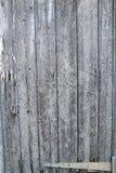 井变老了木板条-与铰链的门 免版税库存图片