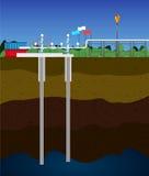 井架提取气体西部自然的西伯利亚 库存图片