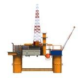 钻井的近海平台抽油装置 免版税库存照片