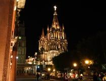 亚伦得・ church de guanajuato墨西哥米格尔parroquia圣 免版税图库摄影