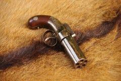 亚伦&瑟伯5射击有虻眼的皮革大约1847-56 库存图片