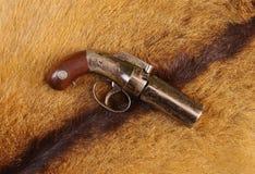 亚伦&瑟伯5射击有虻眼的皮革大约1847-56 免版税库存照片