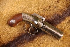 亚伦&瑟伯5射击有虻眼的皮革大约1847-56 图库摄影