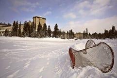 亚伯大加拿大大别墅Lake Louise冬天 库存照片
