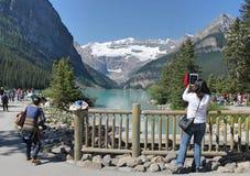 亚伯大加拿大Lake Louise 图库摄影