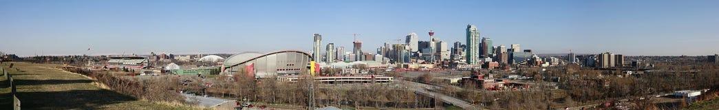 亚伯大卡尔加里加拿大市地平线 免版税图库摄影
