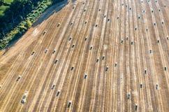 亚伯大打包域干草横向大草原农村夏令时 免版税库存图片
