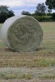 亚伯大打包域干草横向大草原农村夏令时 库存图片