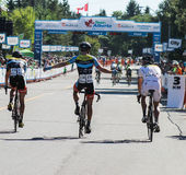 亚伯大自行车种族游览  免版税库存照片
