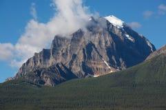 亚伯大banff加拿大挂接寺庙 免版税图库摄影