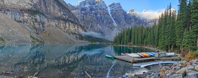 亚伯大banff加拿大湖找出路易丝冰碛国家最近的公园 库存照片