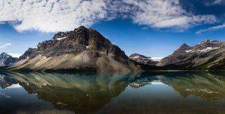 亚伯大banff弓加拿大湖找出国家公园 免版税库存照片