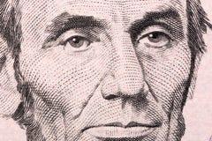 亚伯拉罕・林肯特写镜头画象 免版税图库摄影