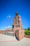 亚伯拉罕・林肯纪念纪念碑- Laramie, WY 库存图片