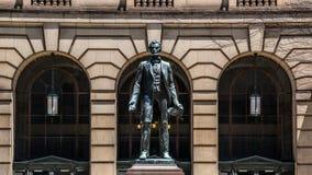 亚伯拉罕・林肯雕象克利夫兰 免版税库存照片