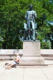 亚伯拉罕・林肯雕象在芝加哥 库存图片