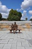 亚伯拉罕・林肯雕象在里士满,弗吉尼亚 免版税库存照片