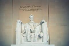 亚伯拉罕・林肯雕象 库存图片