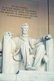 亚伯拉罕・林肯雕象 免版税图库摄影
