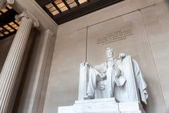 亚伯拉罕・林肯,林肯纪念堂雕象  库存图片