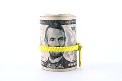 亚伯拉罕・林肯画象五美元票据的 免版税库存图片