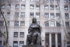 亚伯拉罕depeyster雕象 库存照片