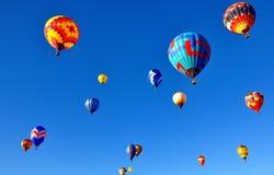 亚伯科基气球节日在新墨西哥 免版税图库摄影