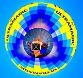 亚伯科基气球节日在新墨西哥 库存图片