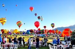 亚伯科基气球节日在新墨西哥 免版税库存图片