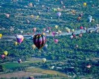 亚伯科基热空气气球节日 库存图片