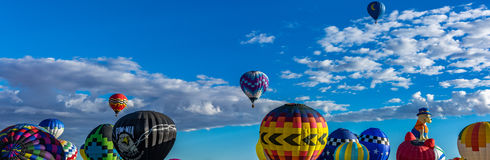 亚伯科基热空气气球节日2016年 库存图片
