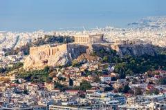 亚典人上城在希腊 库存照片