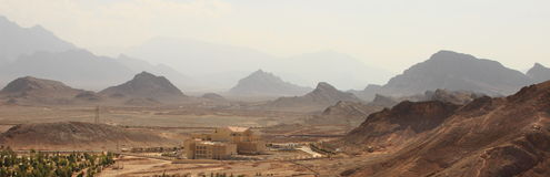 亚兹德省的全景,伊朗 免版税库存图片