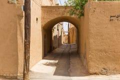 亚兹德老镇的街道  免版税库存图片
