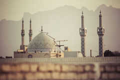 亚兹德,伊朗- 2016年10月07日:亚兹德全景  亚兹德是盖帽 免版税图库摄影