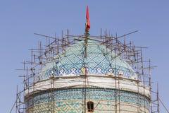 亚兹德,伊朗- 2016年10月07日:亚兹德Jame清真寺在伊朗 的treadled 库存图片