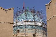 亚兹德,伊朗- 2016年10月07日:亚兹德Jame清真寺在伊朗 的treadled 免版税库存照片