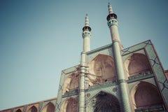 亚兹德,伊朗- 2016年10月07日:装饰品和细节在faca 图库摄影