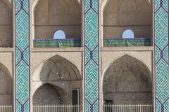 亚兹德,伊朗- 2016年10月07日:装饰品和细节在faca 库存照片