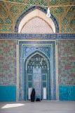 亚兹德Jame清真寺,在伊朗 图库摄影