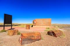 亚利桑那化石森林 免版税库存照片