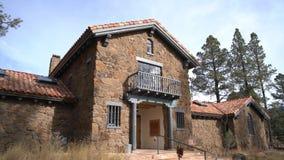 亚利桑那北部博物馆的外视图  股票视频