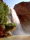 亚利桑那印第安保护区supai瀑布 图库摄影