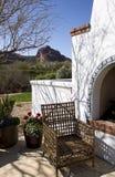 亚利桑那壁炉家室外露台 库存照片