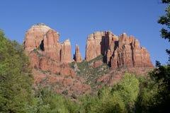 亚利桑那大教堂岩石sedona 免版税库存图片