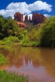 亚利桑那大教堂岩石sedona 库存图片