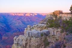 亚利桑那峡谷全部日落 免版税库存照片