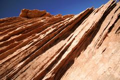 亚利桑那峡谷形成幽谷岩石 免版税库存图片