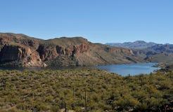 亚利桑那峡谷湖 免版税库存图片