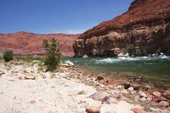 亚利桑那峡谷科罗拉多大理石河 图库摄影